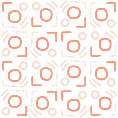 Abstract geometric seamless pattern. Tile background. Infinity wrapping paper with different shapes. Creative texture. Vector illustration. Archivio Fotografico - 137782205