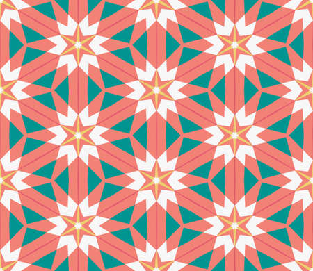 Abstract geo seamless pattern. Colorful ornamental geometric mosaic background. Tile wrapping paper. Vector illustration.