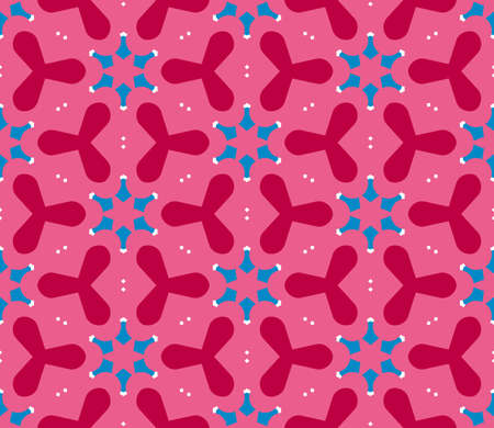 Abstract geo seamless pattern. Ornamental geometric background with different shapes. Wrapping paper. Vector illustration.