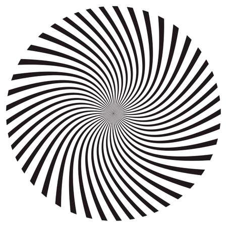 Star, round element, halftone rays isolated on white background.  Geometric shape.