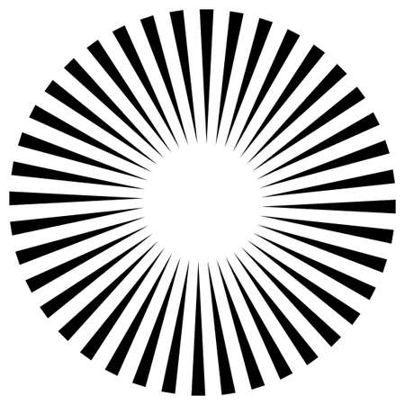 Star, round element, halftone rays isolated on white background. Geometric shape. Иллюстрация
