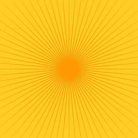 Star, round element, halftone rays card isolated on background. Geometric linear poster.