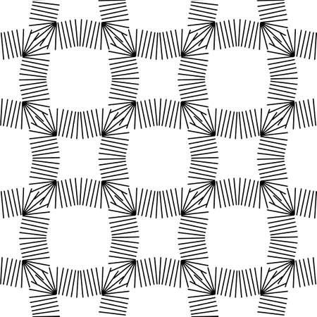 Screen printing seamless pattern. Radiant abstract frame. Circular pattern. Pop art round halftone, print.