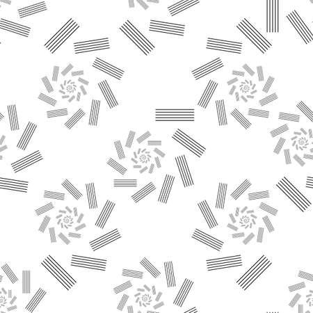 Screen printing seamless pattern. Radiant striped abstract vortex. Circular pattern. Pop art round halftone print.