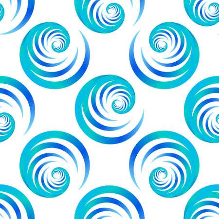Screen printing seamless pattern. Radiant abstract vortex. Circular pattern. Colorful round print. 矢量图像