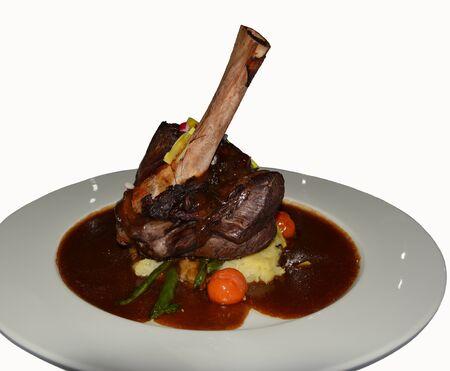 shank: Lamb shank meal