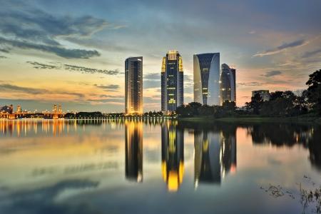 Putrajaya Building with beautiful sunset