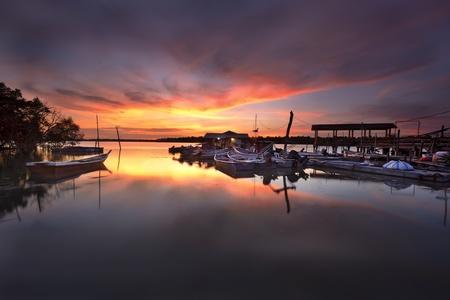 Fisherman Jetty during sunset photo