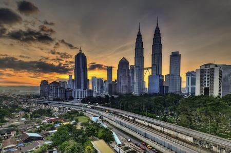 Kuala Lumpur during sunrise Stock Photo