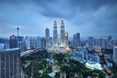 kuala lumpur city: Kuala Lumpur in Cloudy weather