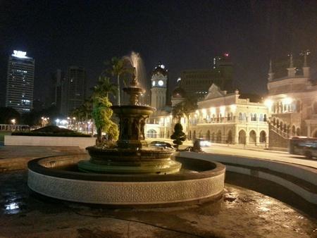 illustration: Kuala Lumpur with fountain at Dataran Merdeka
