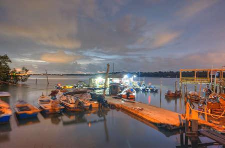 Fisherman Jetty night view photo