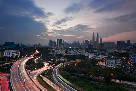 kl: Sunset view of KL city, Malaysia