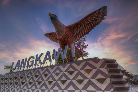 langkawi: Eagle Square in Langkawi, Malaysia during sunrise