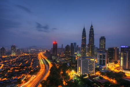 kampung: Blue hours at Kuala Lumpur