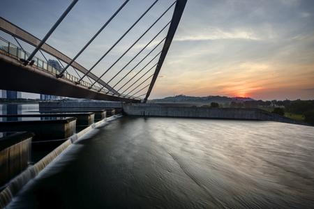 pedestrian bridge: Pedestrian Bridge, Putrajaya Stock Photo