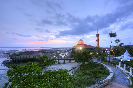 alam: Blue hours with floating mosque