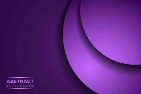 Abstract curve purple paper overlap with text on dark blank space design modern luxury futuristic background vector illustration.