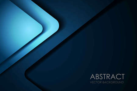 Green turquoise vector background overlap layer on blue dark space for text and background design vector illustration