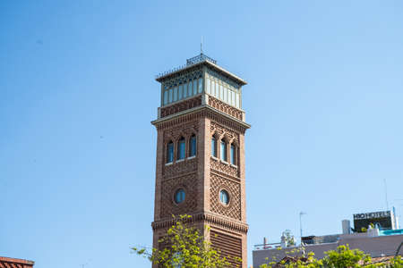 Arab style tower with a nice blue sky Фото со стока