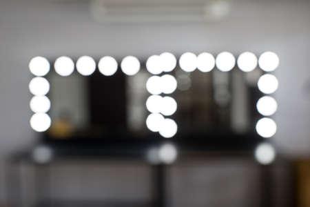 Make-up kamer vervagen en bokeh achtergrond