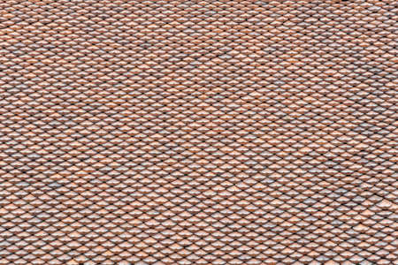 surface of traditional clay roof tiles of chinese asian temple background texture Imagens