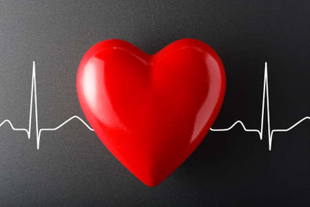 Heart cardio, healthcare, medical background. Archivio Fotografico