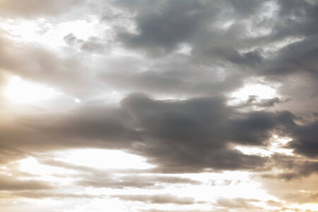 rainclouds: sky with clouds and sun Stock Photo