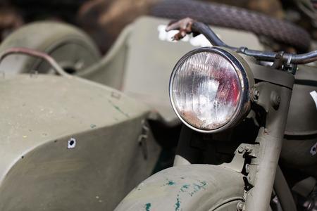 close-up lamp, vintage motorbike photo