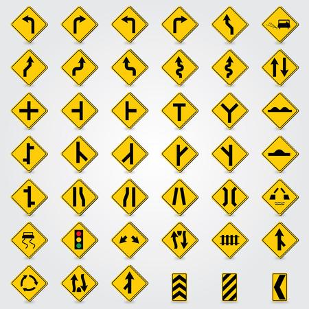 lugs: traffic signs vector Illustration