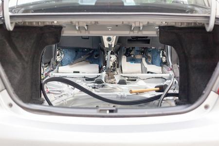 clean carpet: Remove car seat out for clean dust trap carpet in car