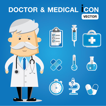 physiotherapist: doctor & medical set icon