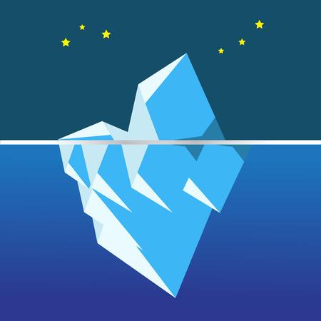 polar environment: iceberg vector