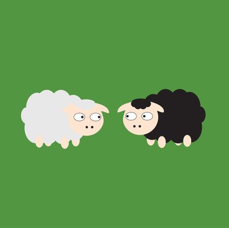 zwart schaap: Zwarte schapen en witte schapen