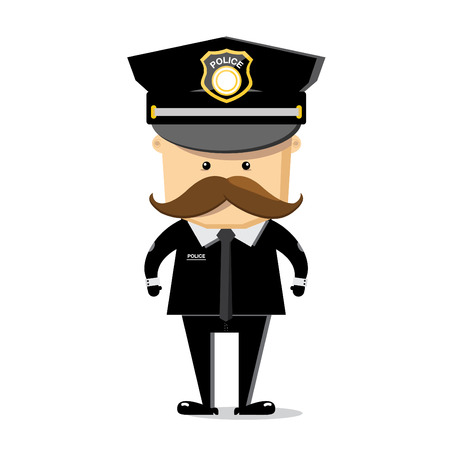 police character vector white background photo