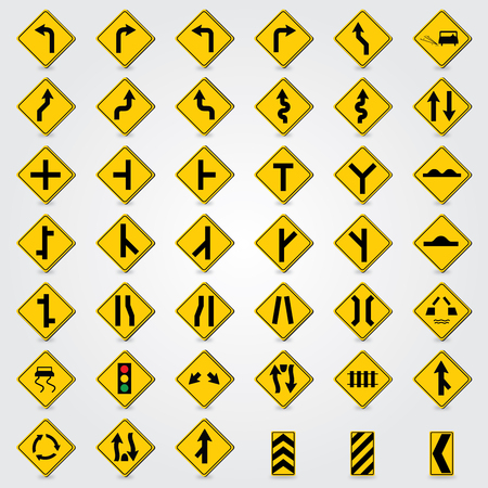 lugs: traffic signs vector Stock Photo