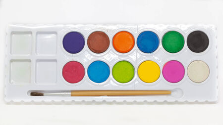 paint box: Colorful watercolor paint box