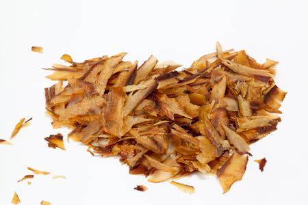 dashi: katsuobushi shavings, ingredient of dashi japanese soup stock