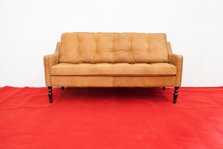 brown leather sofa: Brown leather sofa