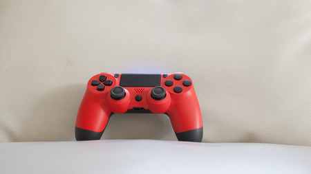 game controller red color Stock Photo