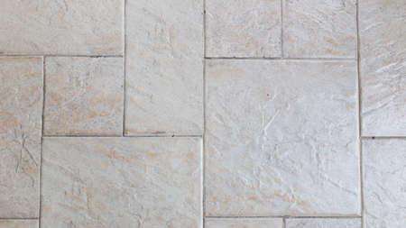 tiled floor: marble tiled floor Stock Photo