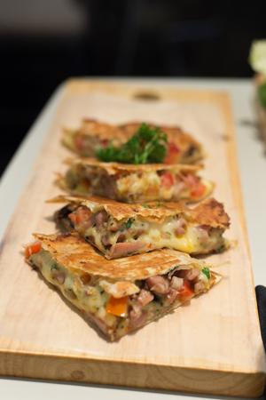 sanwich: Sanwich Pizza Stock Photo