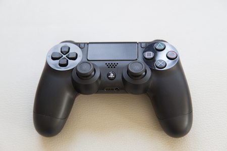 joypad: THAILAND - FAB 6: the new sony dualshock 4 controller for PlayStation 4 taken in BANGKOK THAILAND on 6 FAB 2016.