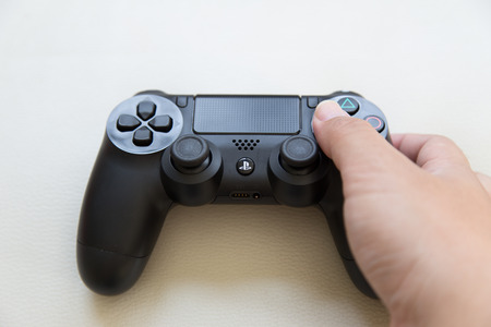 joy pad: THAILAND - FAB 6: the new sony dualshock 4 controller for PlayStation 4 taken in BANGKOK THAILAND on 6 FAB 2016.