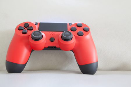 game controller red color 写真素材