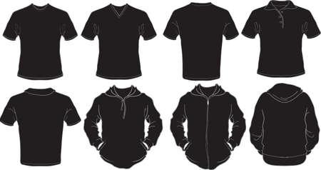 sweatshirt: Schwarze m�nnliche Shirt-Vorlage