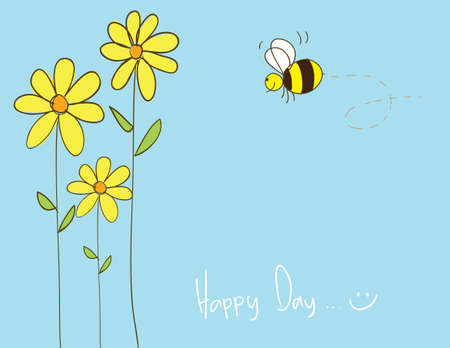 happy days, layered, easy to be edited Vector