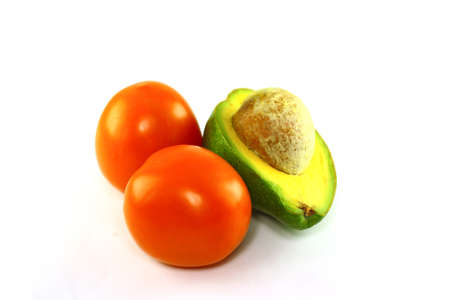 avocado and tomatos photo