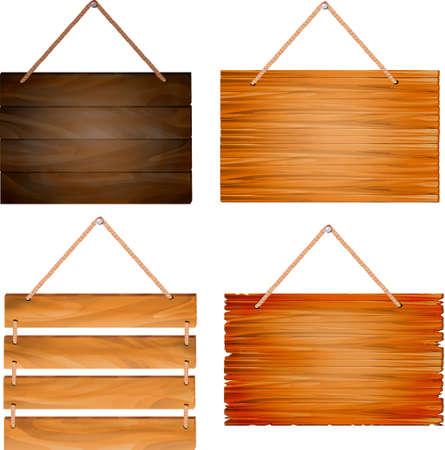 nail bar: hanging wooden sign boards