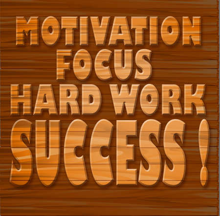 Motivation, focus, hard work, success   photo